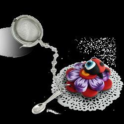boule a thé rouge violette